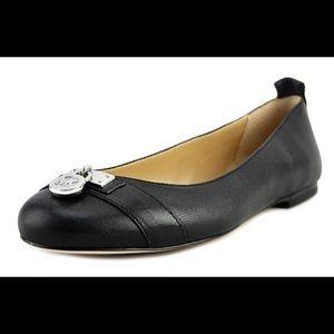 Michael Kors Hamilton Ballet Flat, Black, Leather